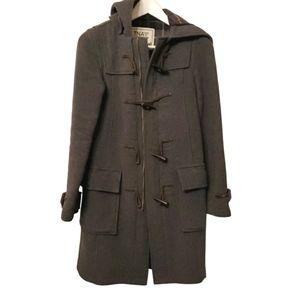 TNA grey wool duffle coat